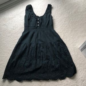 Black eyelet summer dress